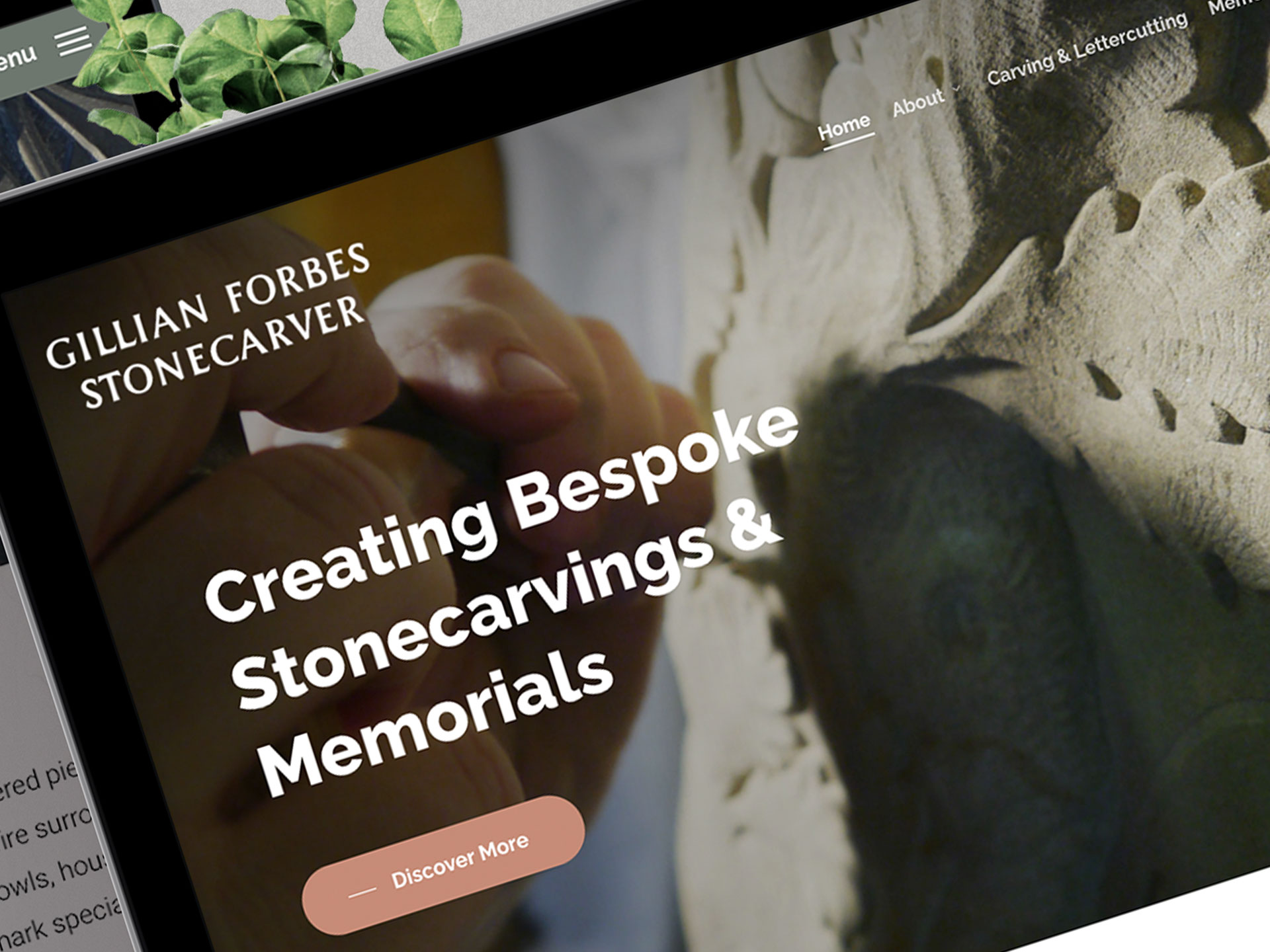 Gillian Forbes Stonecarver – Website Design